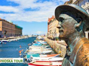Terst - socha James Joyce v centru města
