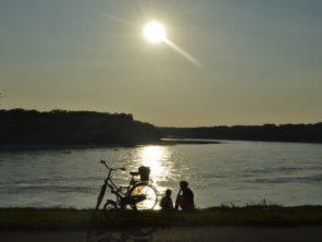 Západ slunce nad Dunajem