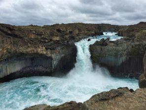 Vodopády Aldeyjarfoss Island