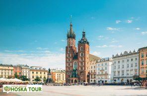 Centrum města Kraków s bazilikou