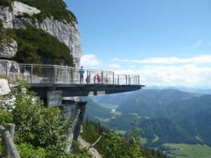 vyhlídková plošina na Waidring Steinplatte