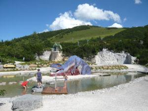 zážitkový svět (Triassic Park) na Waidring Steinplatte