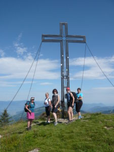 foto na vrcholu Guggenkogel