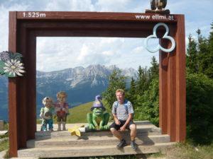 fotorámeček s pozadím Wilder Kaiser (Císařské pohoří)