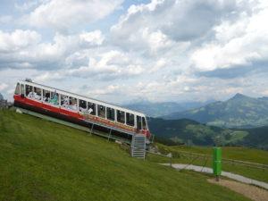 vagon bývalé lanové dráhy na vrchol Hartkaiser