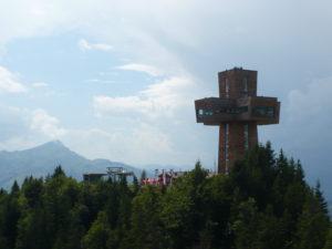 rozhledna Jakobskreuz na vrcholu Buchensteinwand (1456 m)