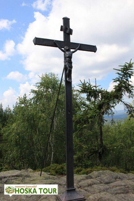 Vintířova skála na Březníku - Kříž