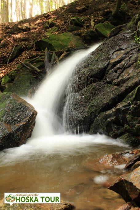 Zhůřský potok - vodopád