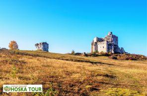 Zřícenina hradu Mirów v Polsku